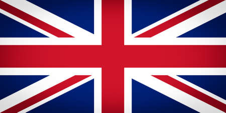 welsh flag: Ufficiale bandiera del Regno Unito del Regno Unito aka Union Jack - Proporzioni: 2:1 - Colori: blu 280 C, 186 C Rosso, Bianco Sicuro vignetted