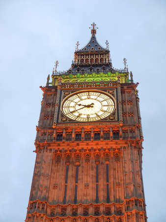 Big Ben Houses of Parliament Westminster Palace London gothic architecture - at night photo
