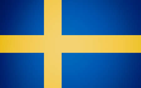 the swedish flag: Vintage looking Swedish flag of Sweden
