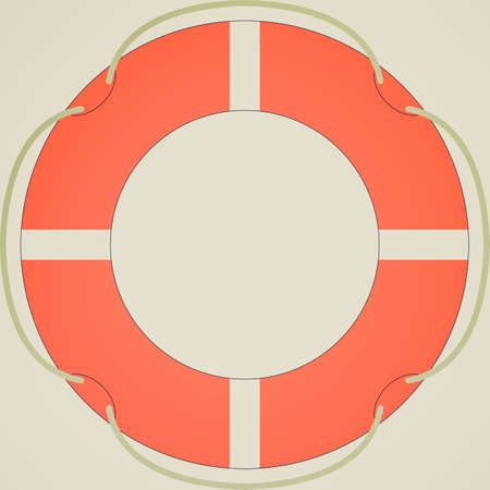 lifejacket: Retro looking Life buoy isolated over a white