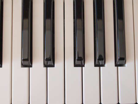 musik: Detail of a music keyboard