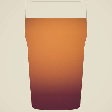 stout: Retro looking Illustration of a pint of stout beer