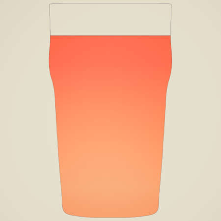 bitter: Retro looking Illustration of a pint of bitter beer Stock Photo