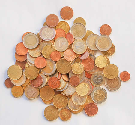 geld: Euro coins currency of the European union