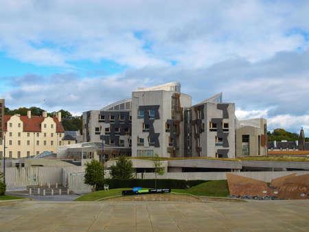 scottish parliament: EDINBURGH, SCOTLAND, UK - SEPTEMBER 18, 2010: The new Scottish Parliament
