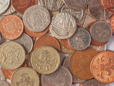 Many Pound coins Currency of the United Kingdom photo
