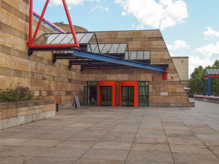 postmodern: STUTTGART, GERMANY - JULY 11, 2012: The Neue Staatsgalerie art gallery is a masterpiece of postmodern architecture designed by British architect Sir James Stirling in 1977