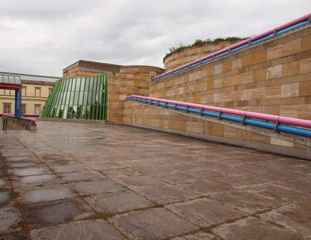 postmodern: STUTTGART, GERMANY - JULY 13, 2012: The Neue Staatsgalerie art gallery is a masterpiece of postmodern architecture designed by British architect Sir James Stirling in 1977 Editorial
