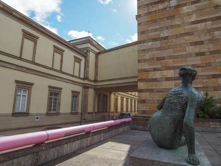 postmodern: STUTTGART, GERMANY - JULY 14, 2012: The Neue Staatsgalerie art gallery is a masterpiece of postmodern architecture designed by British architect Sir James Stirling in 1977