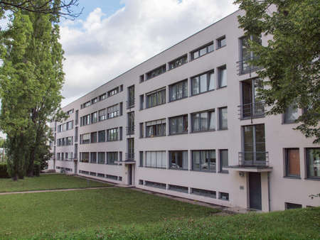 rationalist: STUTTGART, GERMANY - JULY 11, 2012: The Weissenhof Siedlung model houses were designed in 1927 for the modern architecture exhibition by major rationalist architects of the time under the masterplan of Mies Van Der Rohe
