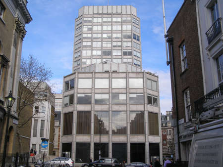 alison: LONDON, ENGLAND, UK - MARCH 04, 2009: The Economist Building designed in 1962 by Alison and Peter Smithson is a masterpiece of new brutalist architecture also featured in the opening scene of Michelangelo Antonioni movie Blow Up