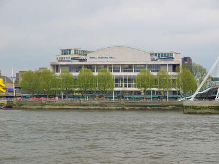 LONDON, ENGLAND, UK - MAY 05, 2010: The Royal Festival Hall built as part of the Festival of Britain national celebrations in 1951 is still in use as a major music and entertainment venue