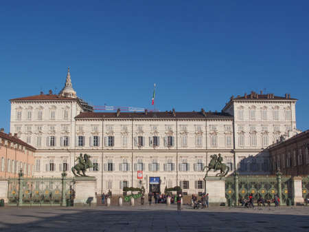 reale: Tourists visiting the Palazzo Reale (Royal Palace)