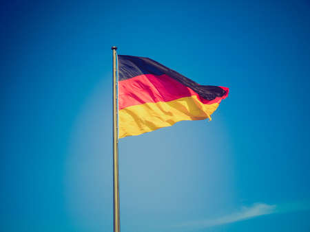 Vintage retro looking The national German flag of Germany photo