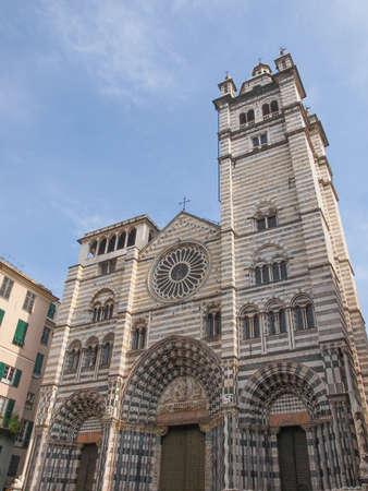 cattedrale: Genoa Cathedral aka Duomo di Genova or Cattedrale di San Lorenzo seat of the Archbishop of Genoa