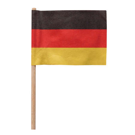 The national German flag of Germany (DE) isolated over white background photo