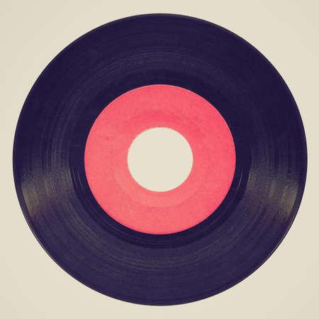 Vintage retro looking Vinyl record vintage analog music recording medium