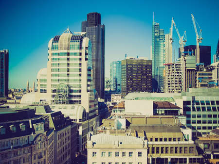 looking at view: Vintage retro looking View of the City of London, England, UK Archivio Fotografico