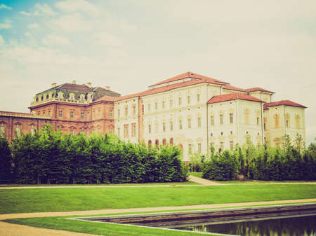 reale: Vintage retro looking Reggia di Venaria Reale (Royal Palace) near Turin, Italy Editorial