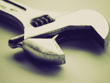 crescent wrench: Vintage looking Wrench spanner tool