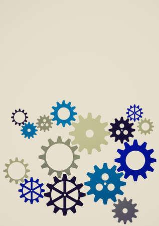 industrial machine: Vintage looking Clockworks gear parts in an industrial machine