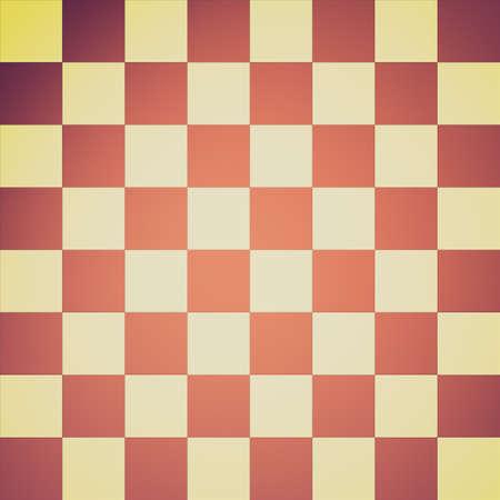 Vintage looking Vector illustration of a chessboard illustration