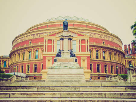 Vintage looking Royal Albert Hall concert room in London UK