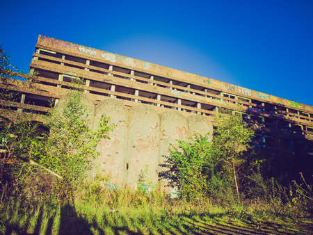 rationalist: Vintage looking Ruins of St Peter Seminary, iconic new brutalist building in Cardross nr Glasgow, Scotland Editorial