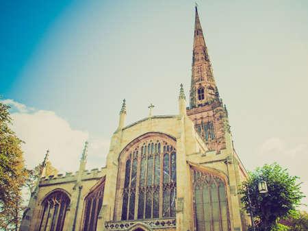 midlands: Vintage looking Holy Trinity parish Church, Coventry, England, UK