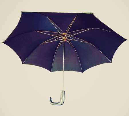 brolly: Aislado Vintage mirando paraguas Negro sobre un fondo blanco Foto de archivo