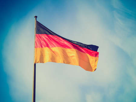 Vintage looking The national German flag of Germany (DE) photo