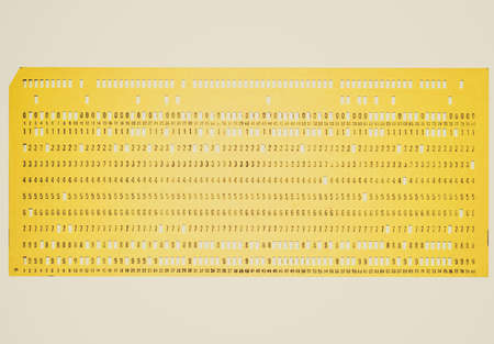 punched: Vintage looking Vintage punched card for computer data storage