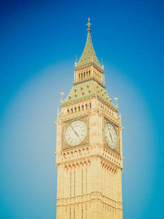 bigben: Vintage looking Big Ben Houses of Parliament Westminster Palace London gothic architecture
