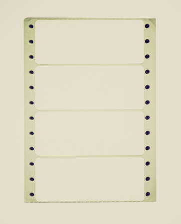 docket: Vintage looking Sticker labels stationery for office use over white background