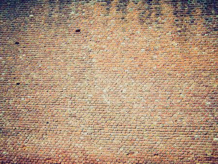 medioeval: Vintage looking Old brick wall Stock Photo