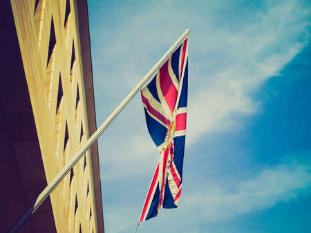 commissioner: Vintage looking Diplomatic Union Jack (Flag of the UK)
