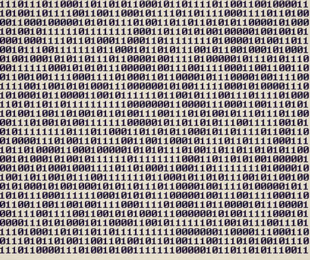 Vintage looking Numeric binary sequence of 0 and 1 digits photo