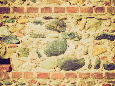 medioeval: Vintage looking Old brick wall picture Stock Photo