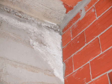 damp: Damage caused by damp and moisture on a wall