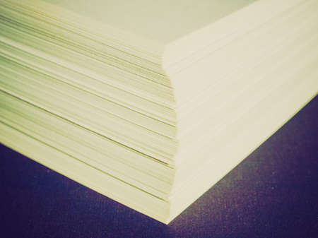 office use: Vintage looking Blank sheets of A4 paper for office use