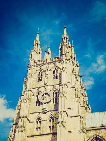 canterbury: Le cru regardant la cath�drale de Canterbury dans le Kent en Angleterre au Royaume-Uni