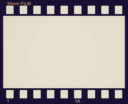 photographic film: Vintage looking Vector illustration of vintage photographic 35 mm film sheet Stock Photo