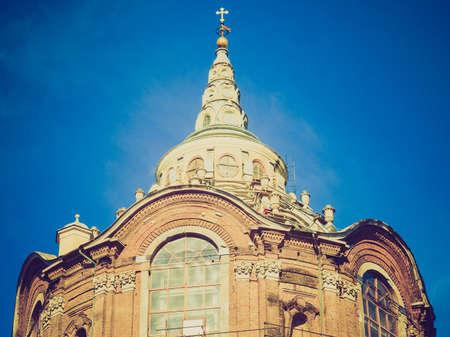 cappella: Vendimia que mira la Cappella della Sindone (S�bana Santa Capilla) en Tur�n, Italia