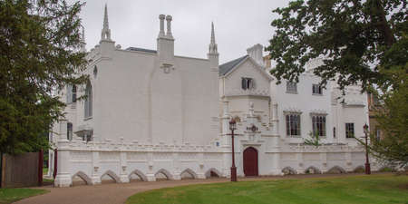 horace: Horace Walpole Strawberry Hill gothic villa built in London Twickenham in 1749 Stock Photo