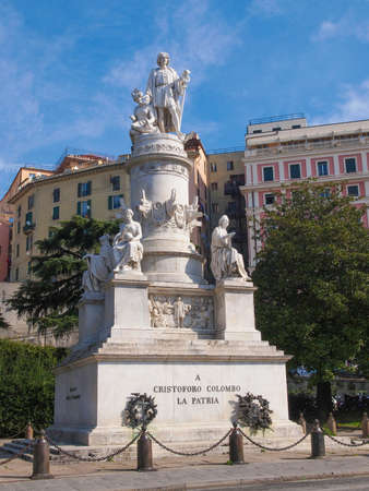 christopher: Monument to Christopher Columbus in Genoa Italy