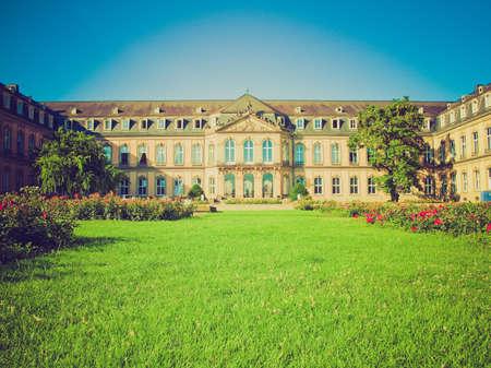 neues: Vintage looking Neues Schloss (New Castle) in Stuttgart, Germany