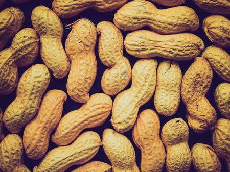 goober peas: Vintage looking Peanut dry fruit or groundnut (Arachis hypogaea) beans - useful as a background