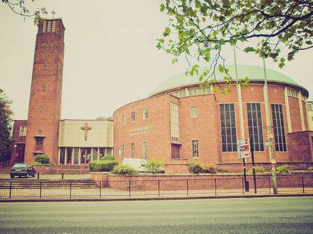 midlands: Vintage looking St Catherine Catholic Church, Birmingham, England, UK