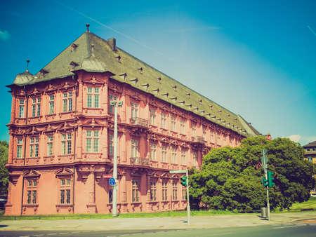 mainz: Vintage looking Roemisch Germanisches Zentralmuseum roman germanic museum in Mainz Editorial