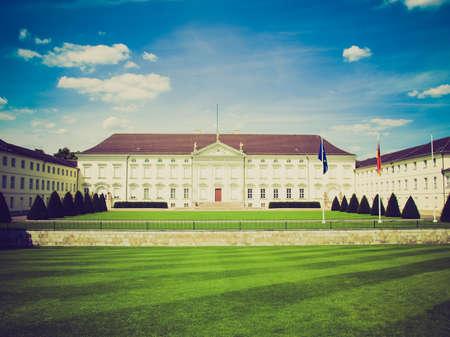 bellevue: Vintage looking Schloss Bellevue, Berlin - historical baroque royal palace